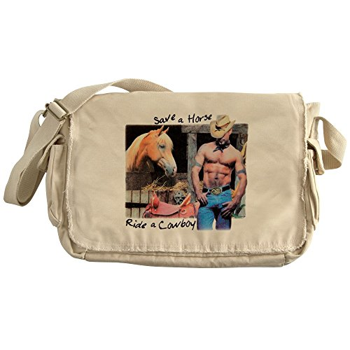 Royal Lion Khaki Messenger Bag Country Western Cowgirl Save A (Save A Horse Ride A Cowboy Costume)