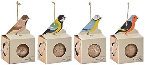 PALLA DI GRASSO 500GR APPENDIBILE PRONTA ALLu0027USO Cibo Per Uccelli Selvatici