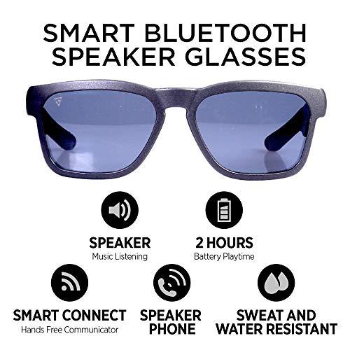 GoVision Kaleo Smart Glasses | Bluetooth Sunglasses | Wearable Technology Headphones - Listen to Music, take Calls and Send ()