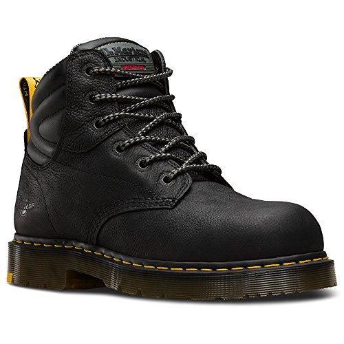 Martens Unisex Safety Boots - Dr. Martens Work Unisex Hynine ST Black Overlord/Black Soft Pu Boot