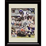 Framed Adrian Peterson Sports Illustrated Autograph Replica Print