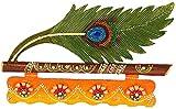 Pindia 'Mor Pankhi' Wooden Key Holder (30 cm x 2 cm x 22 cm)