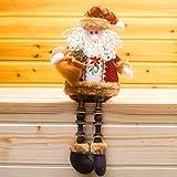Covermason Christmas Decorations Santa Claus Sitting Porcelain Snowman Christmas Ornament (A)