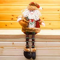 Covermason Christmas Decorations Santa Claus Sitting Porcelain Snowman Christmas Ornament