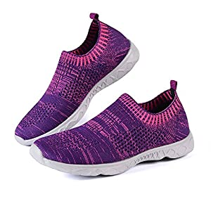 Feetmat Women's Water Shoes Mesh Quick Drying Beach Shoes Purple 7.5B(M) US