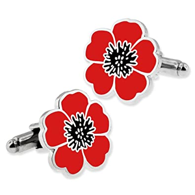 Amazon Pinmart Red And Black Poppy Flower Remembrance Memorial