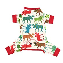 Lazy One Pattern Moose Dog Flapjack - Matching pajamas for the whole family, Adult, Kids, Infant, and Dog Sizes (Small - Dog)