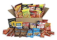 Each box is filled with an assortment of crave-worthy items that address any craving. The snack care package includes the following assortment:(4) 1 oz. Bags of lay's bbq potato chips, (4) 1 oz. Bags of Doritos nacho cheese tortilla chips, (2...