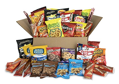 Ultimate Snack Care Package, Variety Assortment of Chips, Cookies, Crackers & More, 40 -