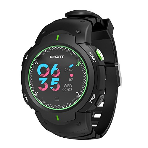 ker Heart Rate Monitor,Activity Tracker Bluetooth Fitness Watch Men Women Blood Pressure&Sleep Monitor,Step&Calorie Counter Pedometer iPhone,Samsung/iOS&Android Smartphone ()
