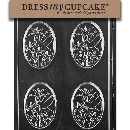 Dress My Cupcake DMCA138 Chocolate Candy Mold, Hummingbird Plaque