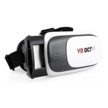 OCT17 3D Glasses VR Virtual Reality Headset Game Video Compatible with  iPhone Android iOS Samsung HTC