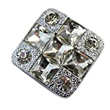Set of 3 Beautiful Silver Square Crystal Drawer Handles/Pulls/Knobs(1.25*0.9'')