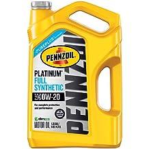 Pennzoil 550046127 Platinum 5 quart 0W-20 Full Synthetic Motor Oil (SAE, SN/GF-5 Jug)