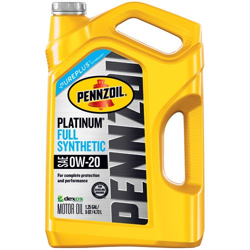 Pennzoil 550046127 Platinum 5 quart 0W-20 Full Synthetic Motor Oil (SAE, SN/GF-5 Jug) (20 Motor Oil)