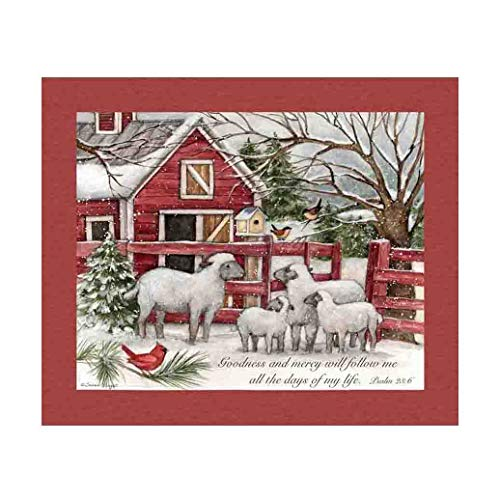 Springs Creative Products Susan Winget Christmas Lord is My Shepherd 36'' Panel Multi Fabric