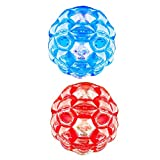 Fityle 2Pcs Bumper Bopper Inflatable Body Bubble Bbop Ball Gifts for Kids & Adults 60cm