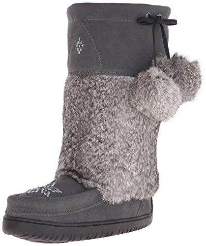 Manitobah Mukluks Womens Mid Kanada Mukluk Winter Boot Charcoal