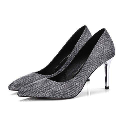 de Shoes silver alto 36 Transpirable 38 8cm zapatos la para de Sandalias el Moda mujer viaje bien AJUNR Consejos con elegante Heel Tq6axfH