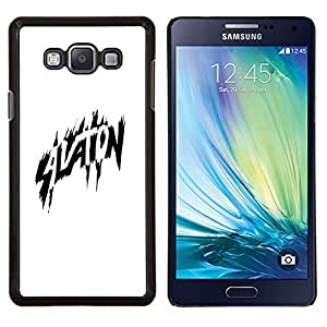 """Be-Star Único Patrón Plástico Duro Fundas Cover Cubre Hard Case Cover Para Samsung Galaxy A7 / SM-A700 ( Aviación Negro Blanco héroe cómico Vuelo"""" )"""