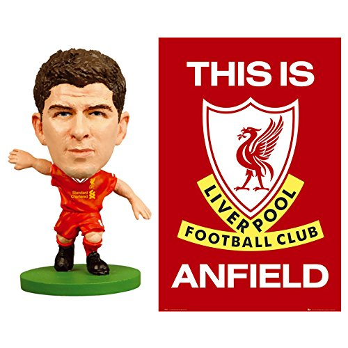 "Steven Gerrard Liverpool (LIVERPOOL WALL POSTER (24 X 36"") & STEVEN GERRARD SOCCERSTARZ MINI FIGURE! OFFICIALLY LICENSED SHIP FROM USA!)"