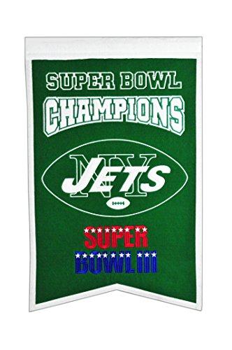 NFL New York Jets Super Bowl Champions Banner