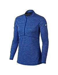 NIKE Women's Dry Half Zip Golf Shirt, Black/Black, XX-Large