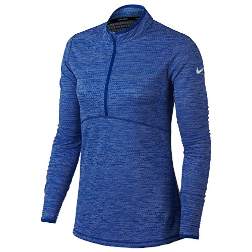 NIKE Dri Fit Lightweight Half Zip Golf Pullover 2018 Women Game Royal/White Small (Nike Dri Fit Game)