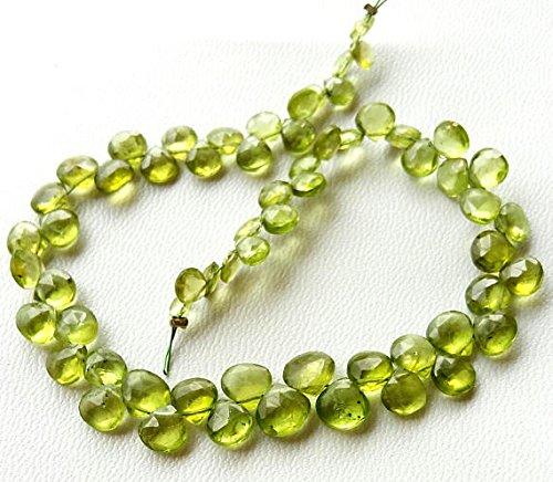 - Natural PERIDOT faceted heart shaped beads ,Amazing quality Peridot beads ,4 -- 6 mm Approx,9