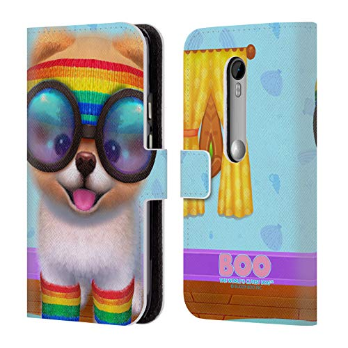 Official Boo-The World's Cutest Dog Rasta Character Art Leather Book Wallet Case Cover for Motorola Moto G (3rd Gen) (Motorola Moto G Case Rasta)