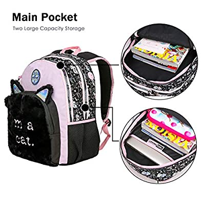 MOZIONI Women Backpack-Large Bag for Girls, Cute Lightweight Teens School Daypack, Travel Pocket, College & Office Bags Classic Basic Casual Bag, Plush Fabric Pack: Computers & Accessories