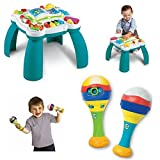 LeapFrog Learn & Groove Counting Maracas and Musical Table Activity Center, Music Activity, Kids Interactive Toys, Early Learning and Creativity, Educational Gift Bundle Kids Will Love!