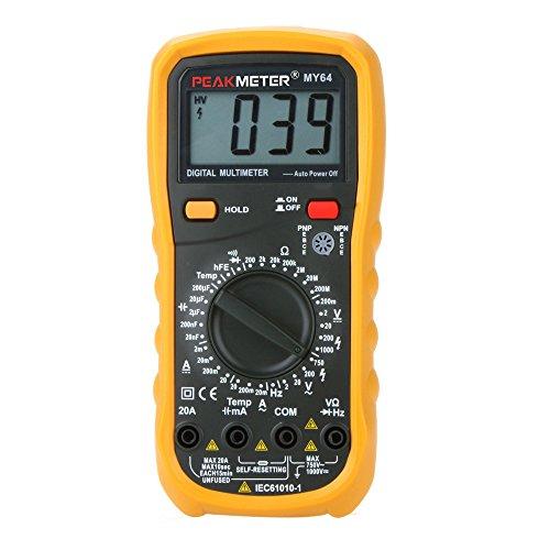 PEAKMETER MY64 DMM Digital Multimeter w/ Temperature Capacitance Frequency (Dmm Digital Multimeter)
