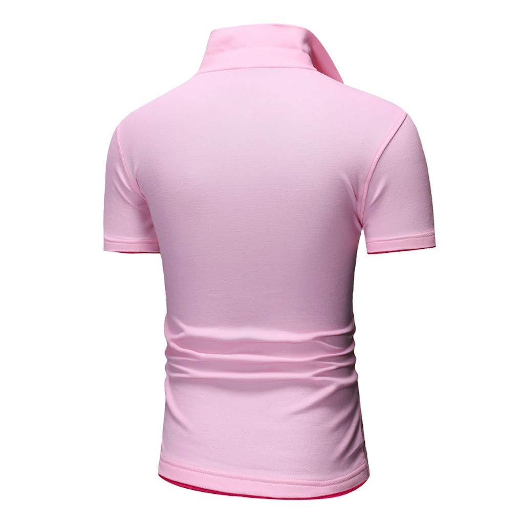 Fashion Mens Letter Printing Shirt Short Sleeve Casual T-Shirt Blouse Tops
