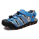 DREAM PAIRS Little Kid 171111-K Blue Grey RED Outdoor Summer Sandals Size 3 M US Little Kid