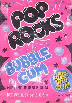 (Pop Rocks Bubble Gum-12 packs)