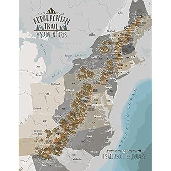 Amazon.com: Appalachian Trail Strip Map Poster by AP TRAIL ...