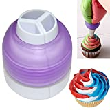 Polytree Icing Piping Bag Nozzle Converter Tri-color Cream Coupler Cake Decorating Tools