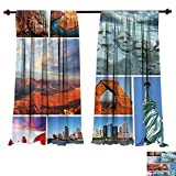Best HELLO KITTY Room Dividers - Thermal Insulating Blackout Curtain Landscape Canyon Patriotic Monuments Review