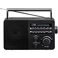 JP-1 AM/FM 2 Band Portable Radio, Black