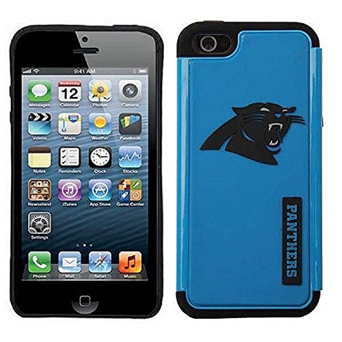 Forever Collectibles – (NFL) Carolina Panthers – Dual Hybrid 2-Piece TPU Case for Apple iPhone 5/5s