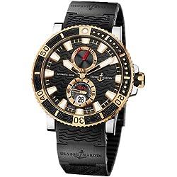 New Mens Ulysse Nardin 18k Rose Gold Maxi Marine Diver Titanium Watch 265-90-3C/92