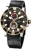 New Mens Ulysse Nardin 18k Rose Gold Maxi Marine Diver Titanium Watch...