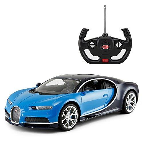 Licensed RC Car 1:14 Scale Bugatti Chiron | Rastar Radio Remote Control 1/14 RTR Super Sports Car Model Blue (Fast And Furious Remote Control Car Reviews)