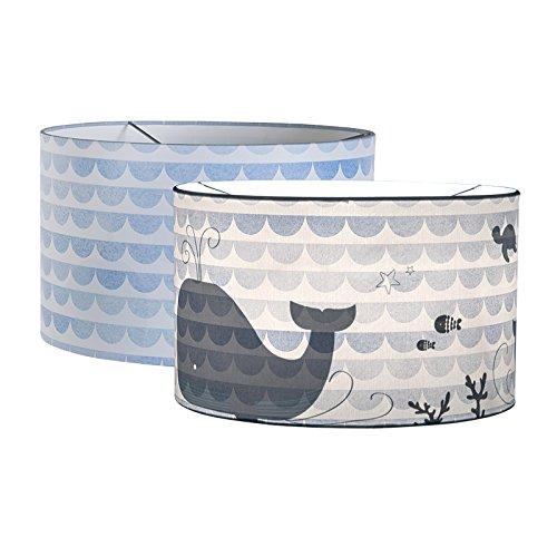 LITTLE DUTCH 10424 Deckenlampe / Hängelampe Silhouette blue waves