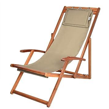 Chaise Assise Tissu Deuba En Beigecoussin Bois Amovible Pliante Plage Camping 8wOvN0mn