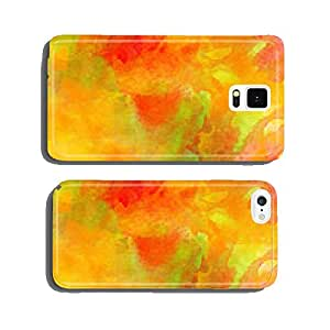 Autumn Colors Watercolor Background. cell phone cover case Samsung S6