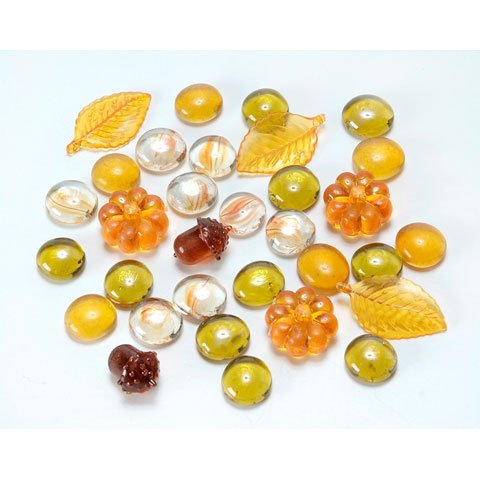 Glass Gems - Autumn Leaves Assortment
