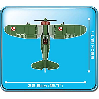 COBI 5516 PZL P.11c Small Army WW2, 245-Blocks: Toys & Games