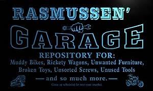 pp1971-b Rasmussen's Garage Repair Shop Room Bar Beer Neon Light Sign